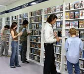 inside the video Store
